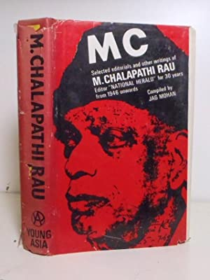 MC. Selected Editorials and other writings of: Rau, M. Chalapathi