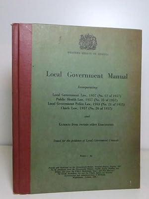 Western Region of Nigeria: Local Government Manual: Government of Nigeria