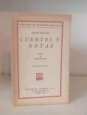 Cuentos y Notas. Prólogo de Francisco Sosa.: DELGADO, Rafael
