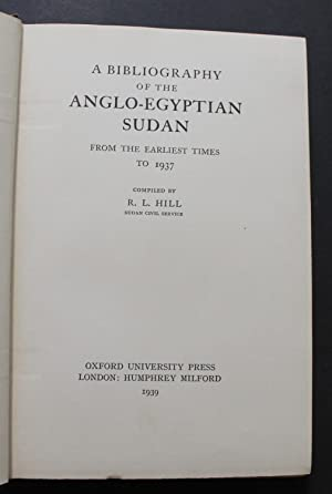 A Bibliography of the Anglo-Egyptian Sudan, from the Earliest Times to 1937.