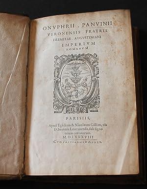 Onuphrii Panvinii. Veronensis fratris eremitae Augustiniani imperium: PANVINIO, ONOFRIO; FRONTINUS,