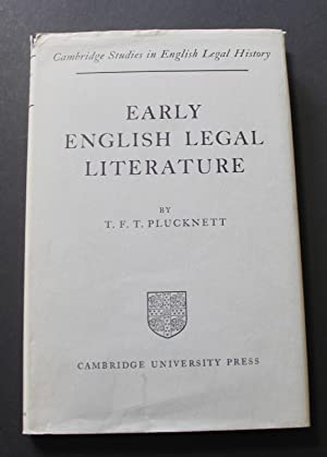 Early English Legal Literature.