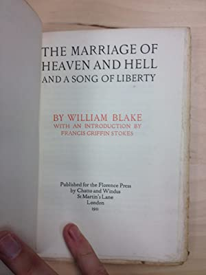 Marriage of Heaven and Hell and a: William Blake