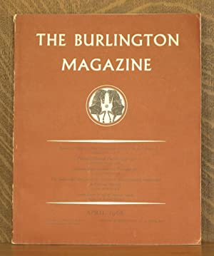 THE BURLINGTON MAGAZINE APRIL 1968 No. 781 Vol. CX: Michael Jaffe, Anthony Blunt, et al