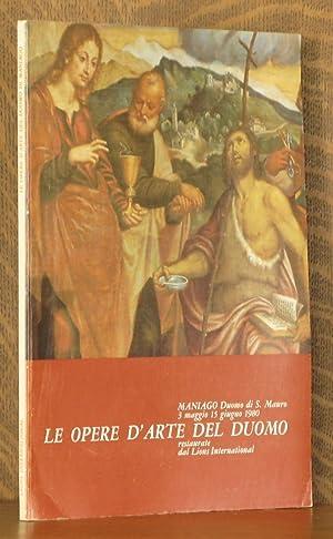 LE OPERE D'ARTE DEL DUOMO RESTAURATE DAL: Paolo Goi and