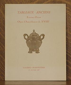 TABLEAUX ANCIENS EXTREME-ORIENT OBJETS D'AMEUBLEMENT DU XVIIIME, GALERIE CHARPENTIER, 29 ...