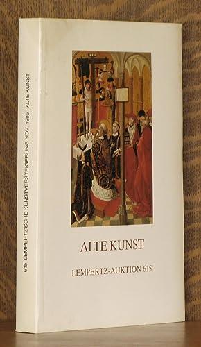 ALTE KUNST, LEMPERTZ-AUKTION 615, NOVEMBER 1986: anonymous
