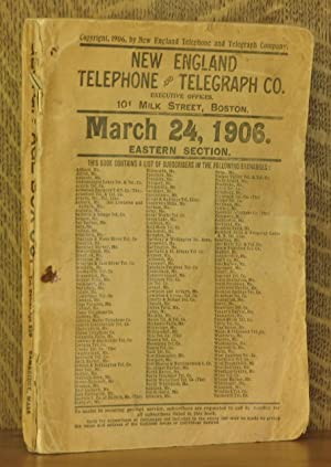 NEW ENGLAND TELEPHONE AND TELEGRAPH CO. MARCH 24, 1906 EASTERN SECTION (MAINE): none