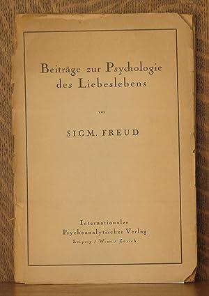 BEITRAGE ZUR PSYCHOLOGIE DES LIEBESLEBENS: Sigmund Freud