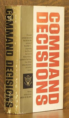 COMMAND DECISIONS: intro by Hanson W. Baldwin