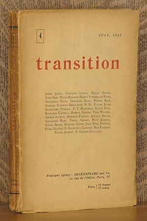 TRANSITION, NO. 4, JULY, 1927: James Joyce, Vsevolod