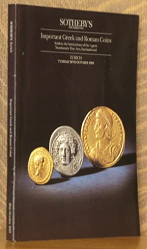 IMPORTANT GREEK AND ROMAN COINS, SOTHEBY'S, ZURICH,: anonymous