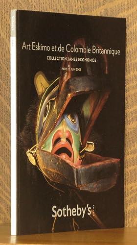 ART ESKIMO ET DE COLUMBIE BRITANNIQUE, COLLECTION JAMES ECONOMOS, SOTHEBY'S, PARIS, 11 JUNE ...