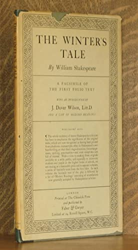 THE WINTER'S TALE - A FACSIMILE OF THE FIRST FOLIO TEXT: William Shakespeare, introduction by ...