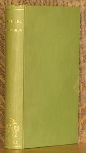 SAMUEL TAYLOR COLERIDGE, A BIOGRAPHICAL STUDY: E. K. Chambers