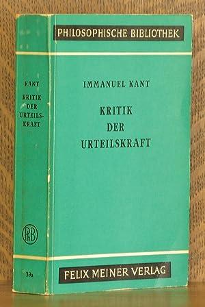 KRITIK DER URTEILSKRAFT: Immanuel Kant