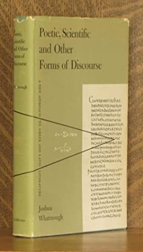 POETIC, SCIENTIFIC AND OTHER FORMS OF DISCOURSE, A NEW APPROACH TO GREEK AND LATIN LITERATURE