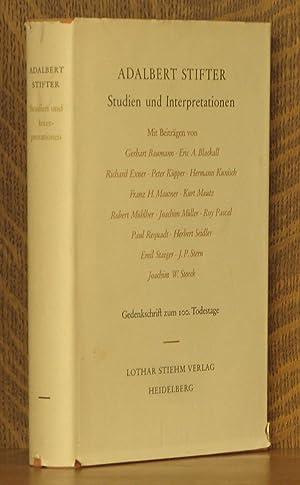 ADALBERT STIFTER, STUDIEN UND INTERPRETATIONEN: Gerhart Baumann, Eric A. Blackall et al