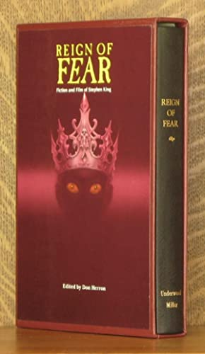 REIGN OF FEAR, FICTION AND FILM OF STEPHEN KING: Stephen King, Charles Willeford, Don Herron, et al