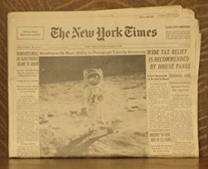 "NEW YORK TIMES - FRIDAY AUGUST 1, 1969 - ""STANDING ON THE MOON: ALDRIN, IN PHOTOGRAPH TAKEN BY..."