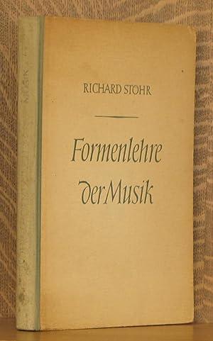 FORMENLEHRE DER MUSIK: Richard Stohr