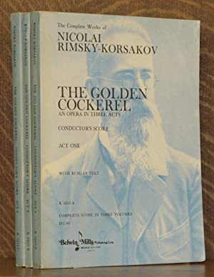 THE GOLDEN COCKEREL - AN OPERA IN THREE ACTS - CONDUCTOR'S SCORE, FULL SCORE - WITH RUSSIAN ...