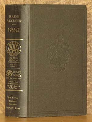 MAINE REGISTER, STATE YEAR-BOOK, AND LEGISLATIVE MANUAL NO. 98, 1966: anonymous