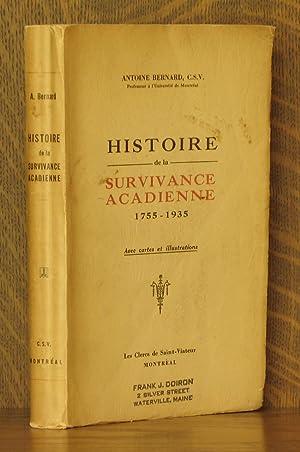 HISTOIRE DE LA SURVIVANCE ACADIENNE 1755-1935: Antoine Bernard
