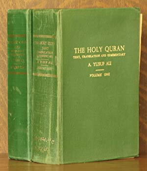TRANSLATION OF THE MEANINGS OF THE HOLY QURAN (2 VOL. SET - COMPLETE): translated by Abdulla Yusuf ...