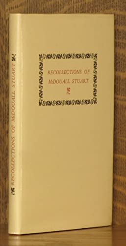 RECOLLECTIONS OF MCDOUALL STUART: W.P. Auld