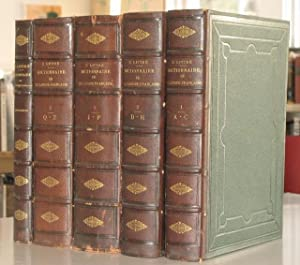 DICTIONNAIRE DE LA LANGUE FRANCAISE (5 VOLUMES COMPLETE CONTAINING THE SUPPLEMENT): E. Littre