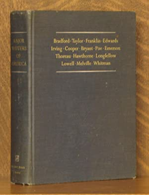 Major Writers of America I: Bradford, Taylor,: Editor-in-Chief Perry Miller