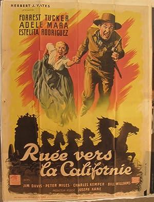 FRENCH CINEMA POSTER [AFFICHE] - RUEE VERS LA CALIFORNIE- [US TITLE, CALIFORNIA PASSAGE]: ...