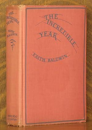 THE INCREDIBLE YEAR: Faith Baldwin