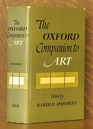 THE OXFORD COMPANION TO ART: edited by Harold Osborne