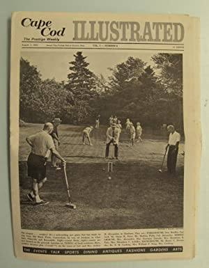 CAPE COD ILLUSTRATED - AUGUST 1, 1963 VOLUME 1, NUMBER 6 - CROQUET. OR CROAKEY PHOTO ON FRONT COVER...