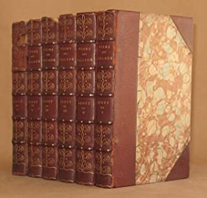 POEMS AND BALLADS (6 VOL SET - COMPLETE): Walter Scott, with essay and notes by Andrew Lang