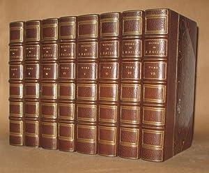 OEUVRES COMPLETE DE J. RACINE (8 VOL SET - COMPLETE): Jean Racine, edited by Saint-Marc Girardin, ...