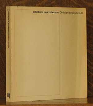 INTENTION IN ARCHITECTURE: Christian Norberg-Schulz