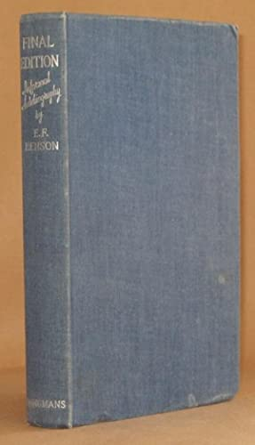 FINAL EDITION: E.F. Benson