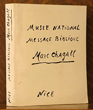 NATIONAL MUSEUM, MESSAGE BIBLIQUE, MARC CHAGALL: Marc Chagall