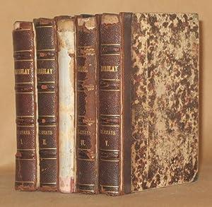 CRITICAL AND HISTORICAL ESSAYS (5 VOLUMES COMPLETE): Thomas Babington Macaulay