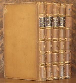 THE POETICAL WORKS OF JOHN DRYDEN (5 VOLUMES COMPLETE): John Dryden