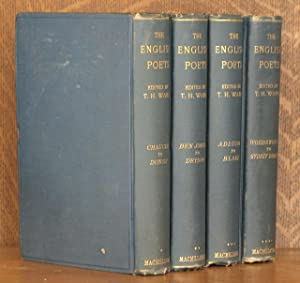 THE ENGLISH POETS (4 VOL SET - COMPLETE): edited by Thomas Humphry Ward, introduction by Matthew ...