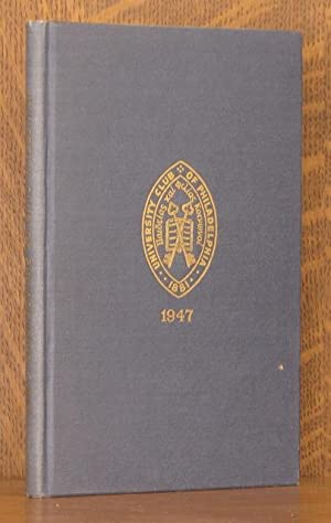 OFFICERS, MEMBERS, CHARTER, BY-LAWS AND RULES OF THE UNIVERSITY CLUB OF PHILADELPHIA, SIXTY-SIXTH...