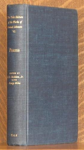 POEMS (YALE EDITION VOL. 6): Samuel Johnson, W.J. Bate editor