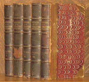 HISTOIRE DE LA LITERATURE ANGLAISE (5 VOL SET - COMPLETE): H. Taine