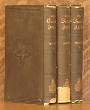 THE POETICAL WORKS OF JOHN MILTON (3 VOLUMES COMPLETE): John Milton