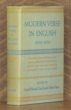 MODERN VERSE IN ENGLISH, 1900 - 1950: edited by David Cecil and Allen Tate