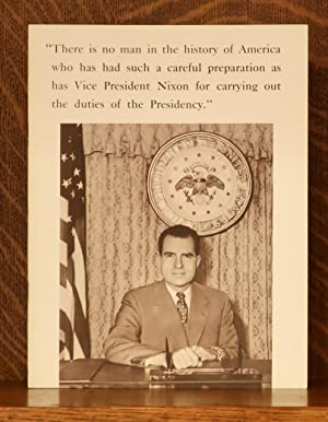 RICHARD NIXON CAMPAIGN BROCHURE 1960 - TEN COMPELLING REASONS FOR CHOSING RICHARD NIXON AS THE NE...